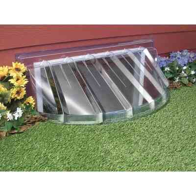 MacCourt 42 In. x 18 In. Plastic Window Well Cover