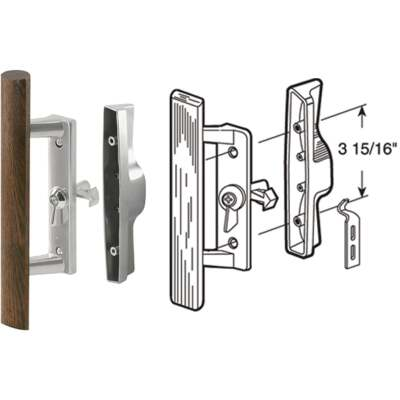 Prime-Line Internal Lock Aluminum Patio Door Handle Set