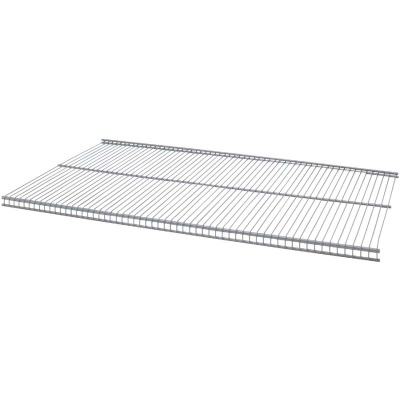 Organized Living FreedomRail 4 Ft. W. x 12 in. D Profile Ventilated Closet Shelf, Nickel