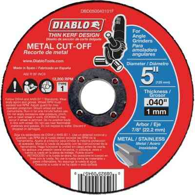 Diablo Type 1 5 In. x 0.040 In. x 7/8 In. Metal Cut-Off Wheel