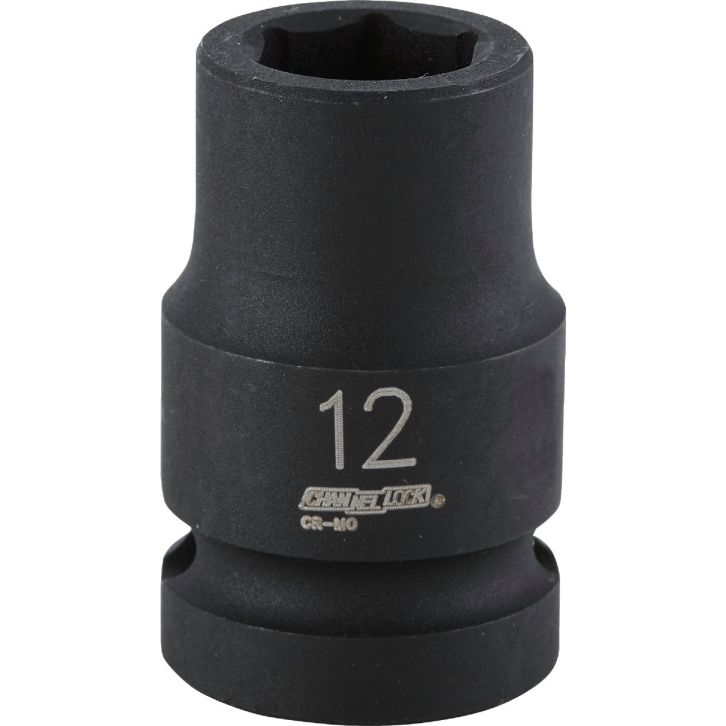 Channellock 1/2 In. Drive 12 mm 6-Point Shallow Metric Impact Socket Image 1