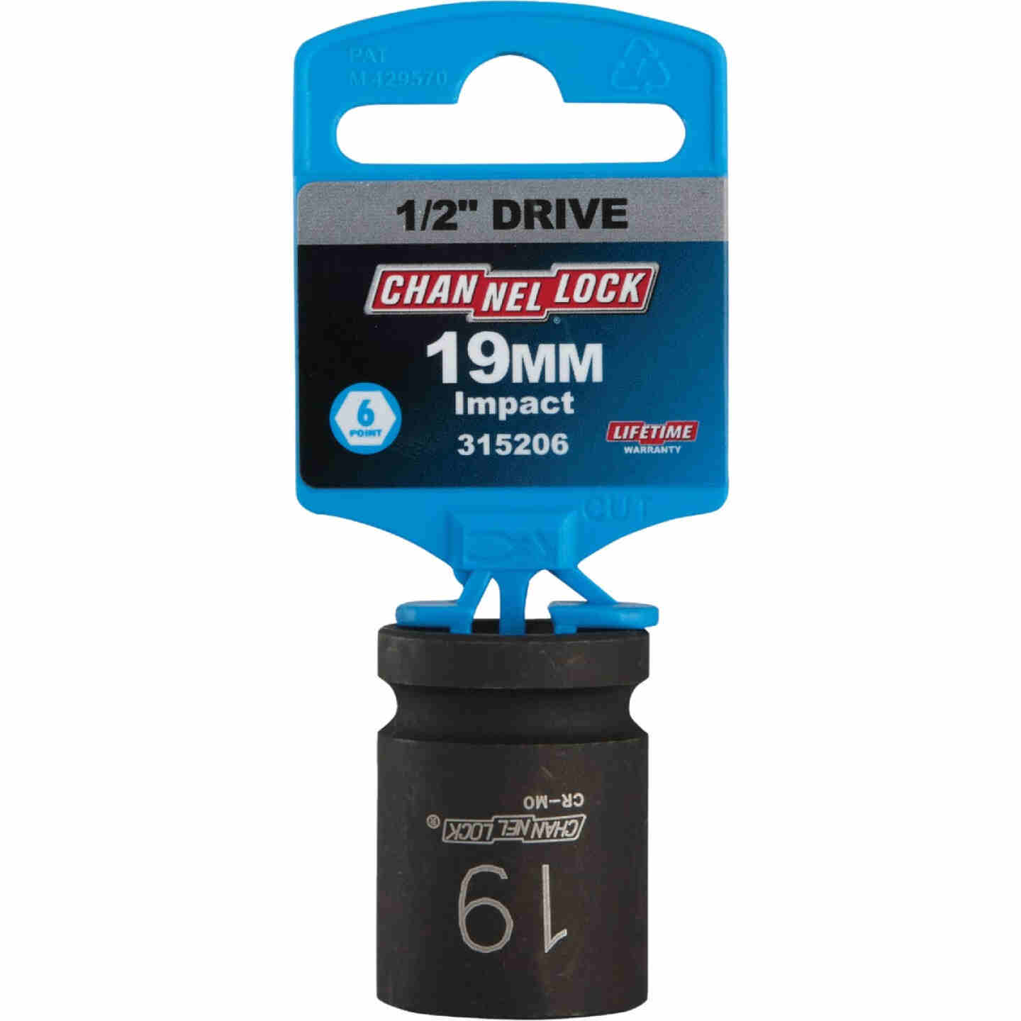 Channellock 1/2 In. Drive 19 mm 6-Point Shallow Metric Impact Socket Image 2