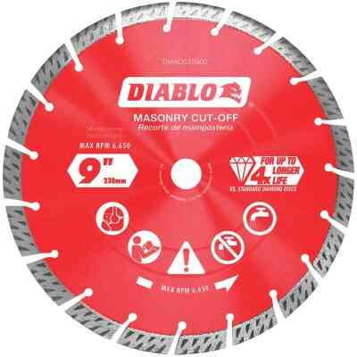 Diablo 9 In. Segmented Turbo Rim Dry/Wet Diamond Blade