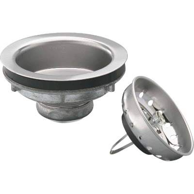 Keeney Champion 3-1/2 In. Stainless Steel Basket Strainer Assembly