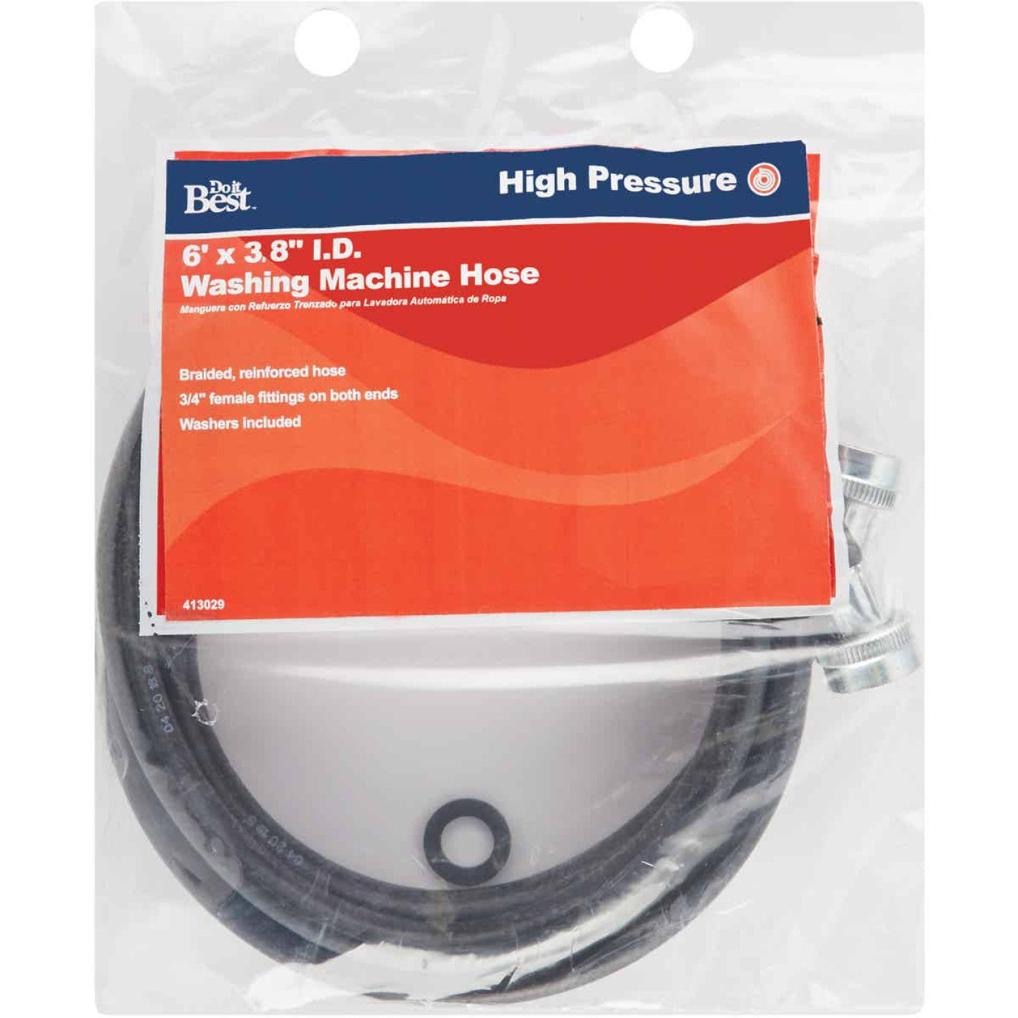 Do it 6 Ft. Reinforced EPDM Rubber Inlet Pressure Hose Image 2
