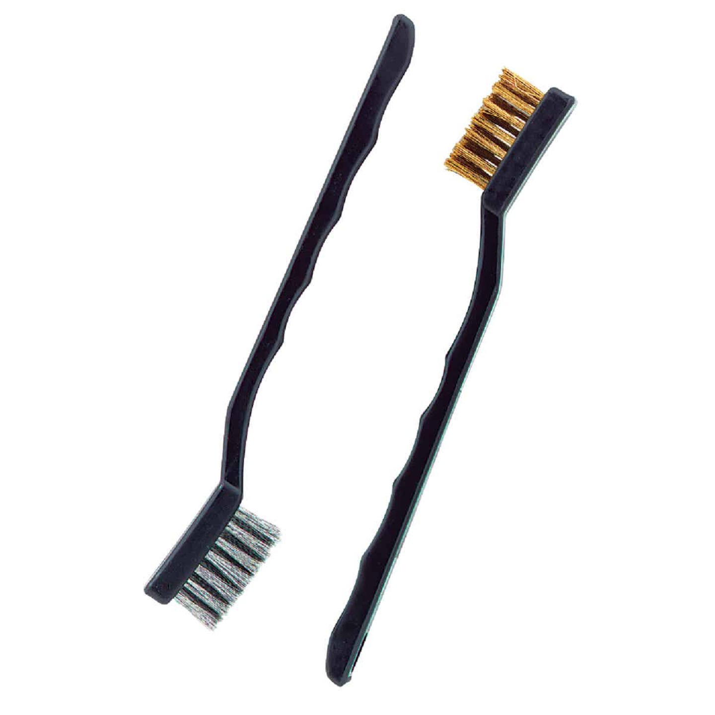 Do it Best Brass & Stainless Steel Bristle Utility Brushes (2-Pack) Image 1