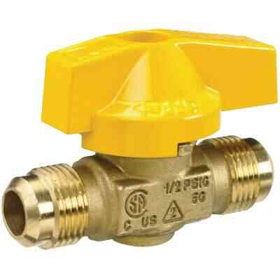 ProLine 1/2 In. Flare x 1/2 In. Flare Brass Gas Ball Valve