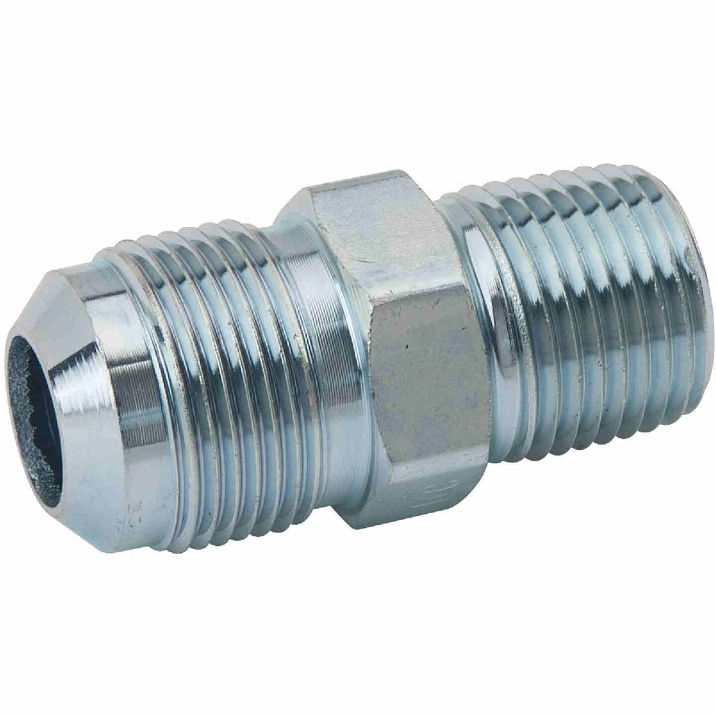 Dormont 5/8 In. OD Male Flare x 1/2 In. MIP (Tapped 3/8 In. FIP) Zinc-Plated Carbon Steel Adapter Gas Fitting, Bulk Image 1