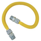 Dormont 5/8 In. OD x 72 In. Coated Stainless Steel Gas Connector, 1/2 In. MIP (Tapped 3/8 In. FIP) x 1/2 In. MIP (Tapped 3/8 In. FIP) Image 1