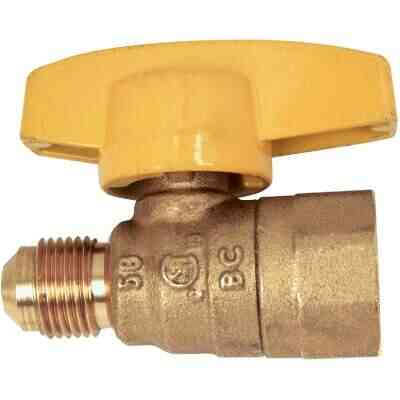 Dormont 3/8 In. OD Male Flare x 1/2 In. FIP Forged Brass Gas Shutoff Valve
