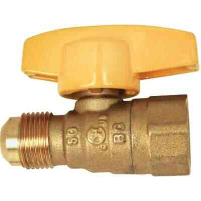 Dormont 1/2 In. OD Male Flare x 1/2 In. FIP Forged Brass Gas Shutoff Valve