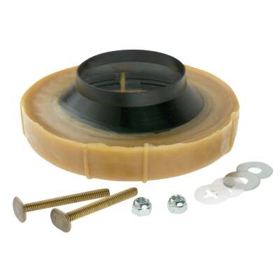 Harvey No-Seep No. 1 Flanged Wax Ring Bowl Gasket with Bolts
