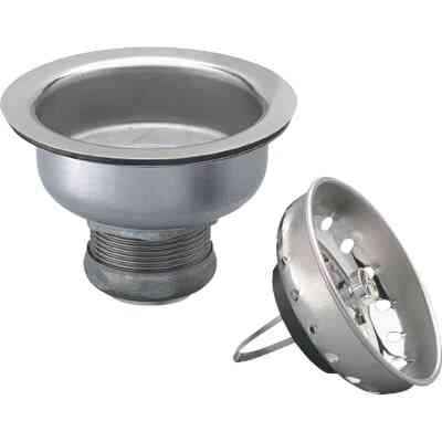 Keeney 3-1/2 in. to 4 In. Stainless Steel Basket Strainer Assembly