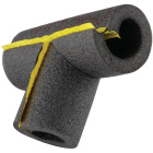 Tundra 1/2 In. Wall Self-Sealing Tee Polyethylene Pipe Insulation Wrap, 1/2 In. Fits Pipe Size 1/2 In. Copper Image 3