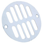 Do it 3-5/16 In. Chrome Grill Shower Drain Strainer Image 1