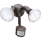 All-Pro Bronze Motion Sensing Dusk To Dawn Incandescent Floodlight Fixture Image 1