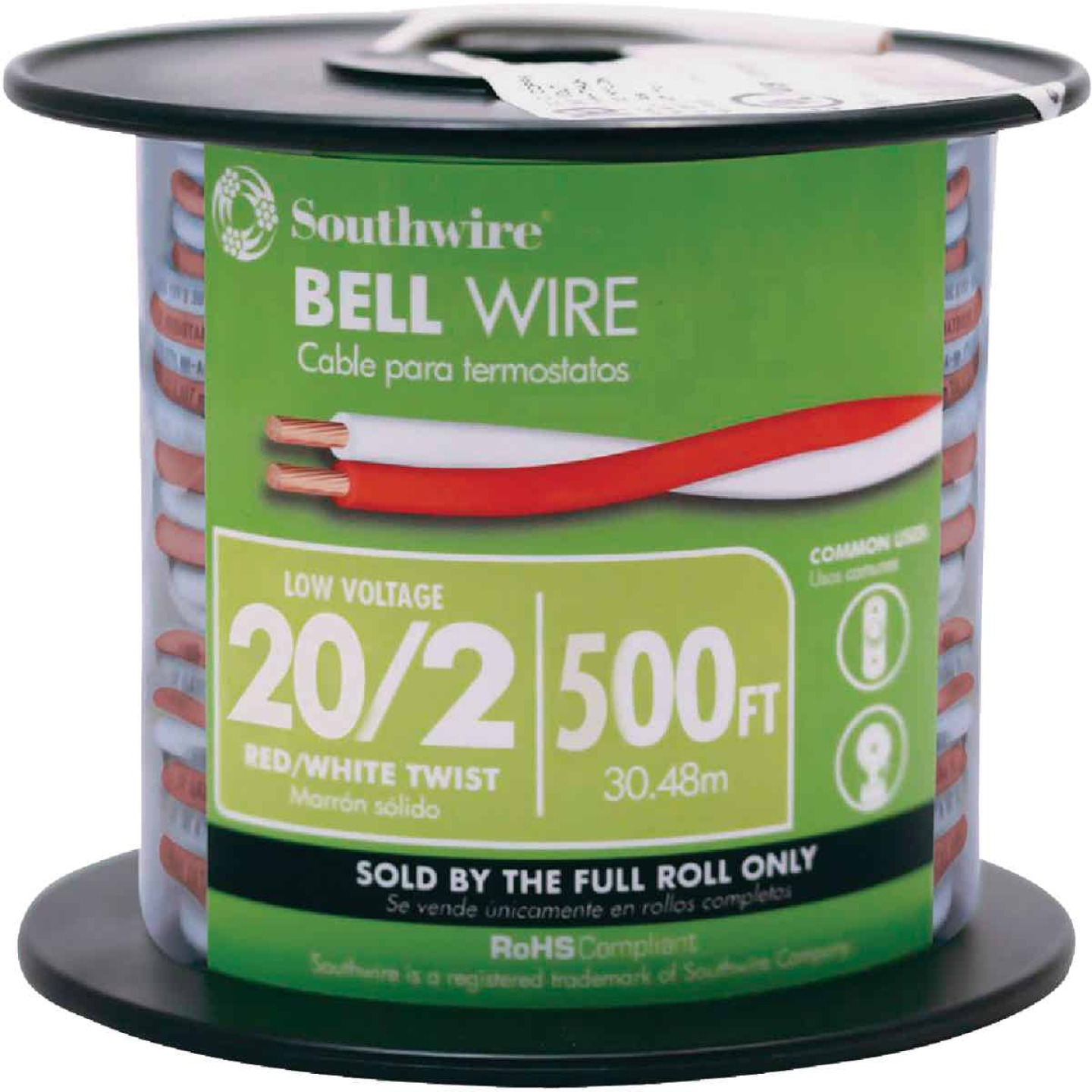 Coleman Cable 500 Ft. 20AWG Bell Wire Image 1