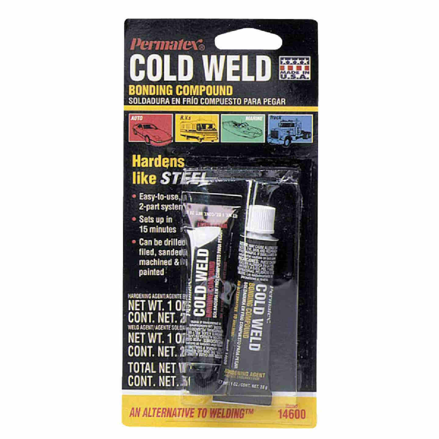 PERMATEX 1 Oz. Cold Weld Bonding Compound Epoxy Image 1