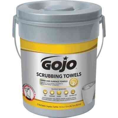 GOJO Fresh Citrus Pop-up Dispenser Scrubbing Hand Cleaner Wipes, (72 Ct.)
