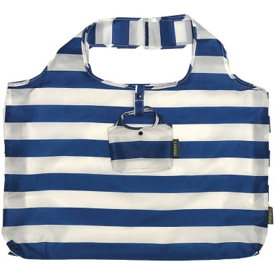 Meori Classic Blue Stripes Pocket Shopper Bag