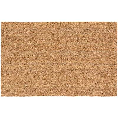 Americo Home Tan 18 In. x 30 In. Coir/Vinyl Door Mat