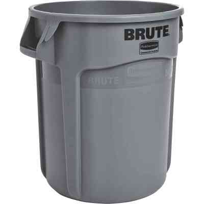 Rubbermaid Commercial Brute 20 Gal. Gray Vented Trash Can
