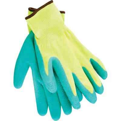 Do it Men's Small Grip Latex Coated Glove, Green