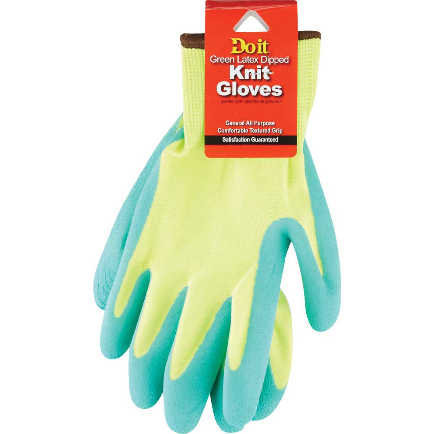 Do it Men's Small Grip Latex Coated Glove, Green Image 2