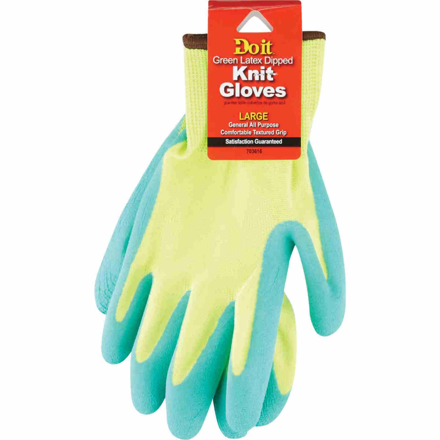 Do it Men's Large Grip Latex Coated Glove, Green Image 2