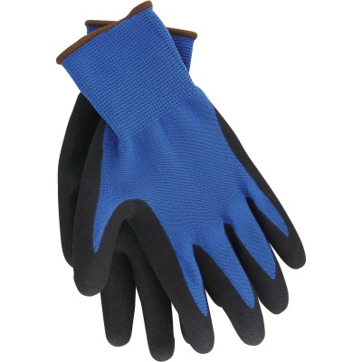 Do it Men's Large Grip Latex Coated Glove, Blue (3-Pack)