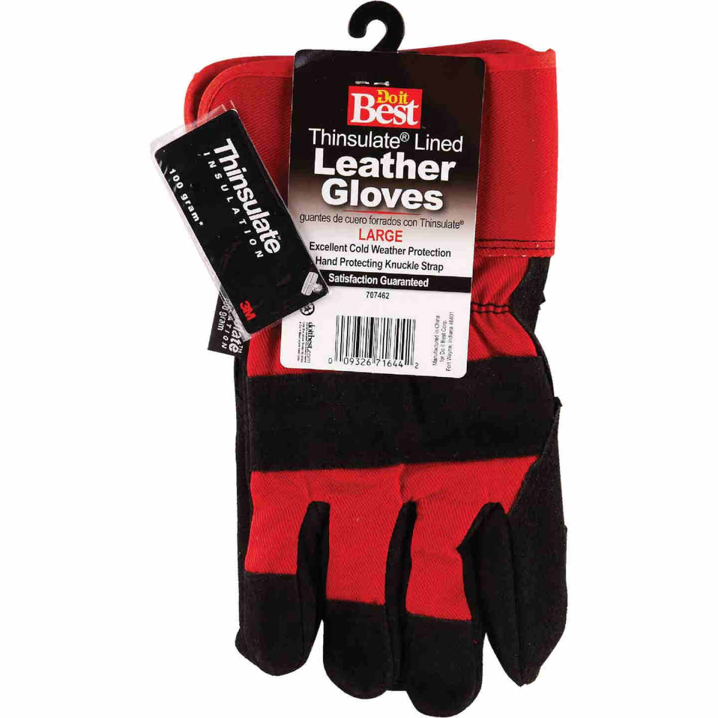 Do it Best Men's Large Leather Winter Work Glove Image 3
