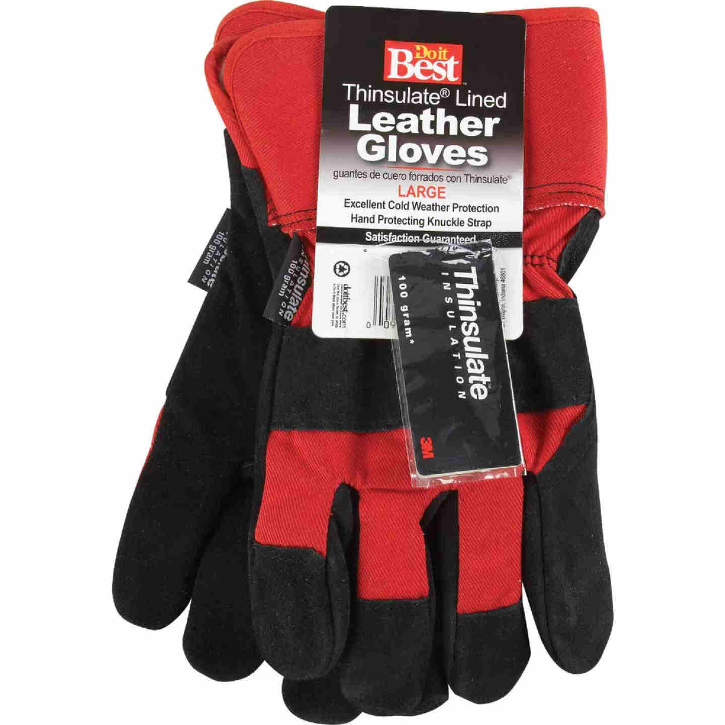 Do it Best Men's Large Leather Winter Work Glove Image 7