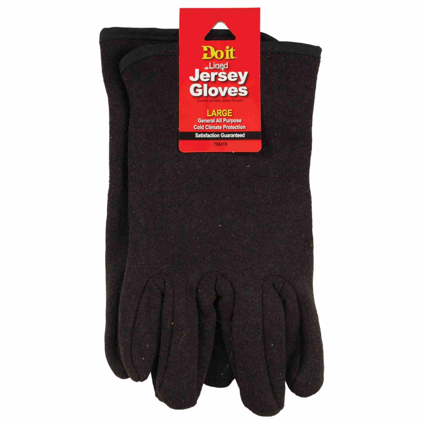 Do it Men's Large Lined Jersey Work Glove Image 3