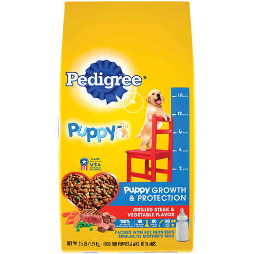 Pedigree Complete Nutrition 3.5 Lb. Grilled Steak & Vegetable Dry Puppy Food