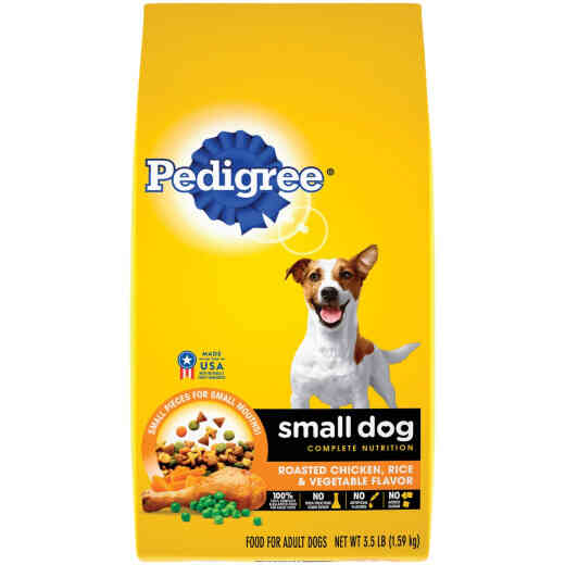 Pedigree Small Dog Complete Nutrition 3.5 Lb. Roasted Chicken, Rice & Vegetable Adult Dry Dog Food