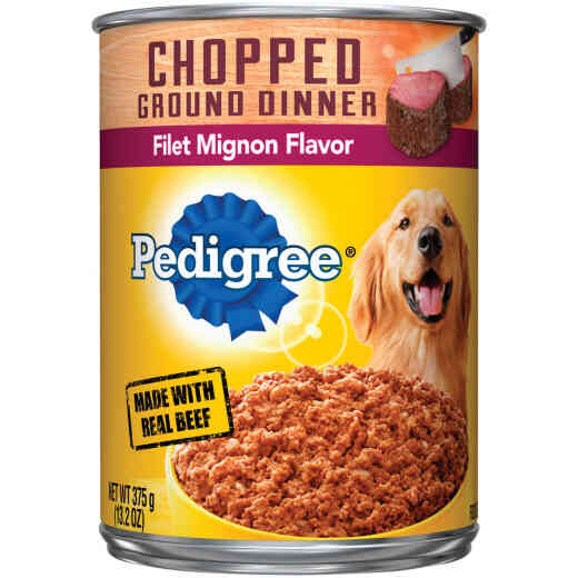 Pedigree Traditional Chopped Ground Dinner Filet Mignon Flavor Adult Wet Dog Food, 13.2 Oz.