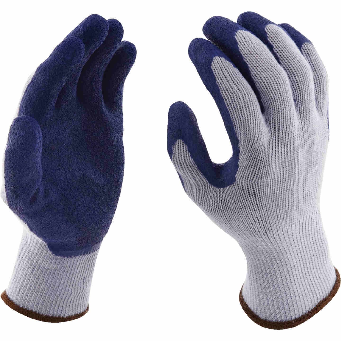 Do it Men's Large Grip Latex Coated Glove, Blue Image 3