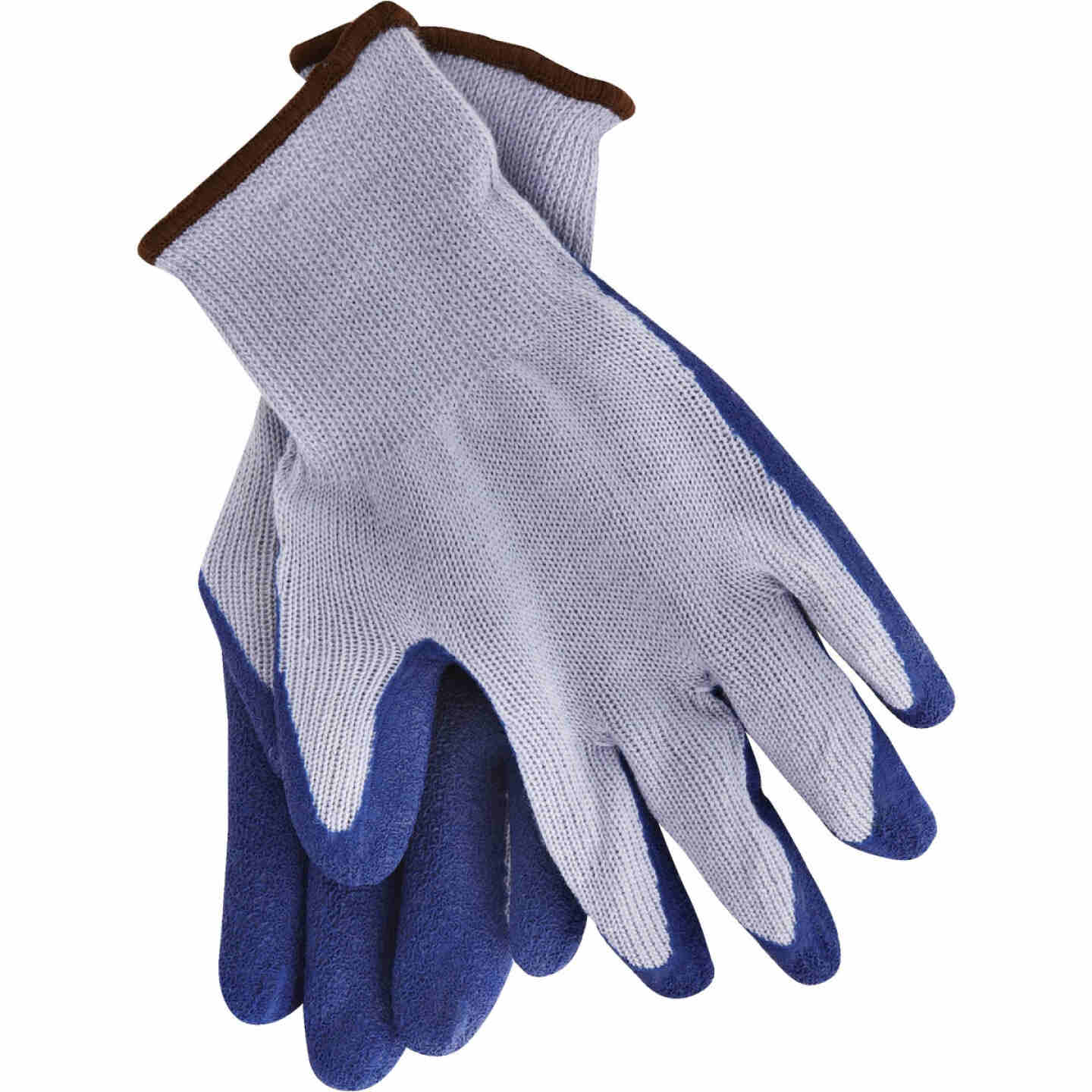 Do it Men's Large Grip Latex Coated Glove, Blue Image 4