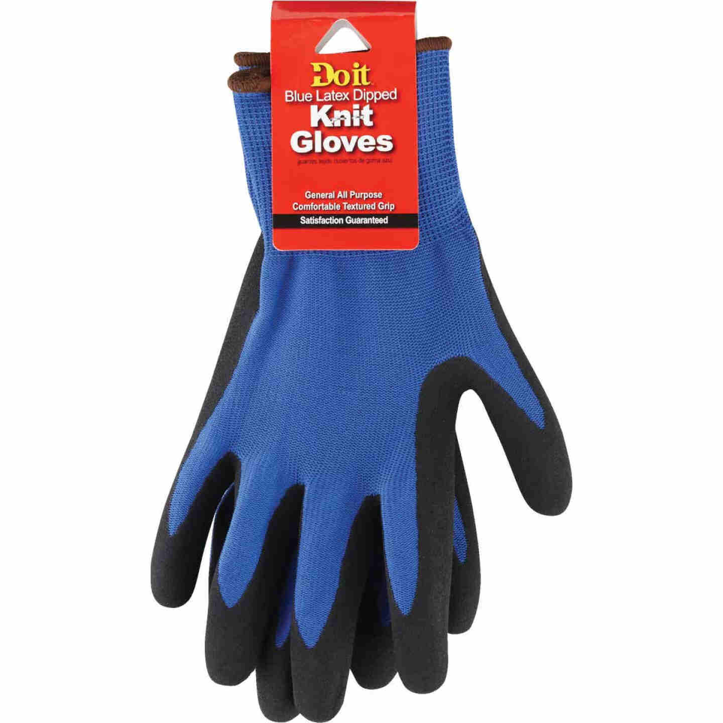 Do it Men's XL Grip Latex Coated Glove, Blue Image 2