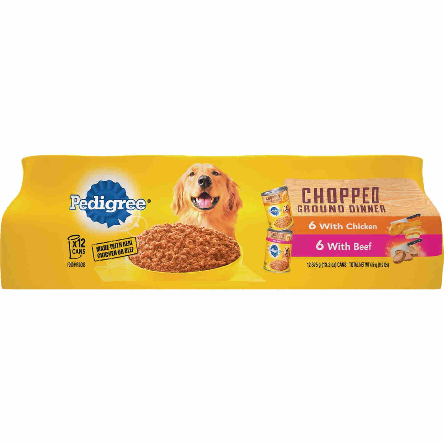 Pedigree Traditional Chopped Ground Dinner Chicken/Beef Variety Wet Dog Food (12-Pack) Image 1