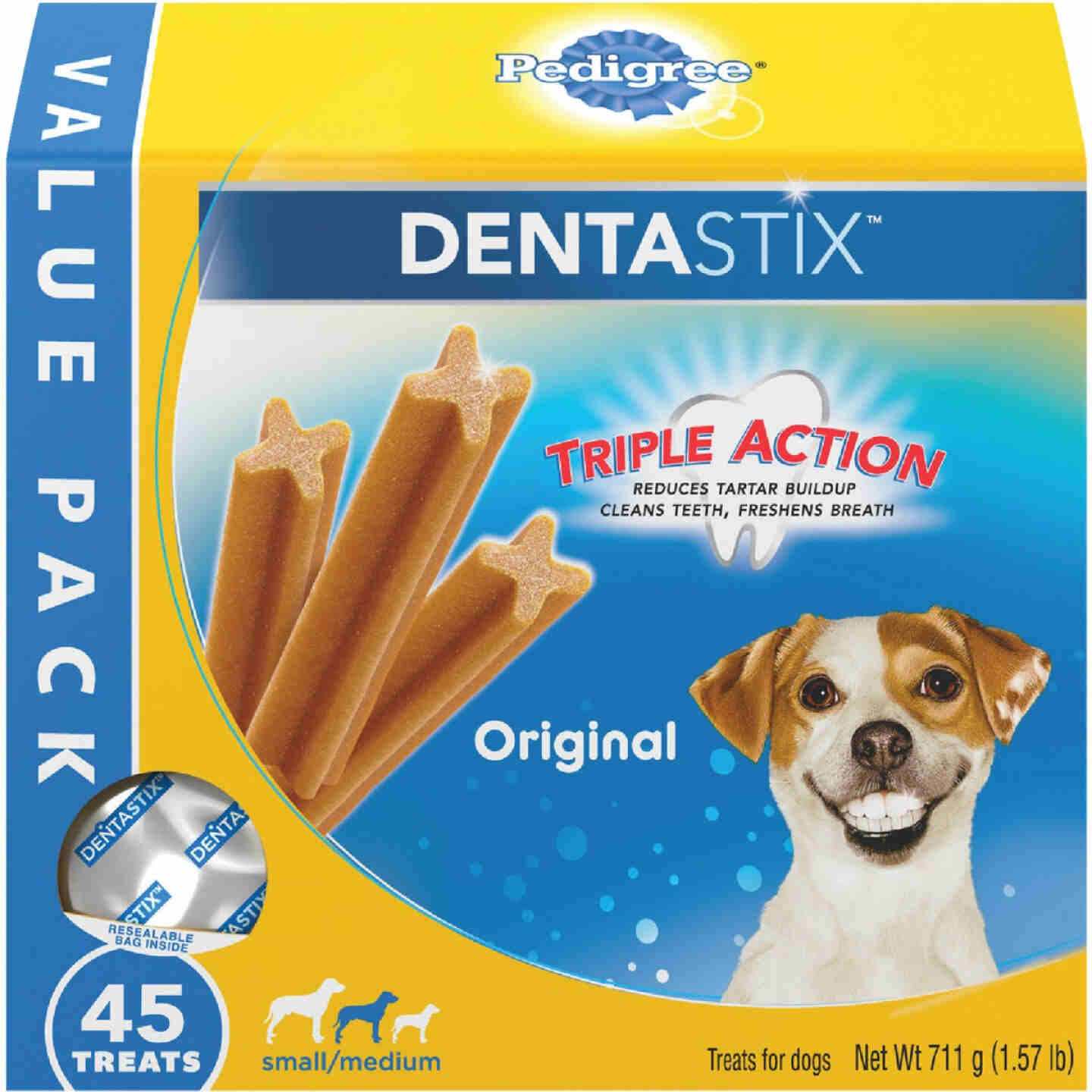 Pedigree Dentastix Small/Medium Dog Original Flavor Dental Dog Treat (45-Pack) Image 1
