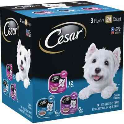 Cesar Filets in Gravy Prime Rib/New York Strip/Filet Mignon Variety Adult Wet Dog Food (24-Pack)