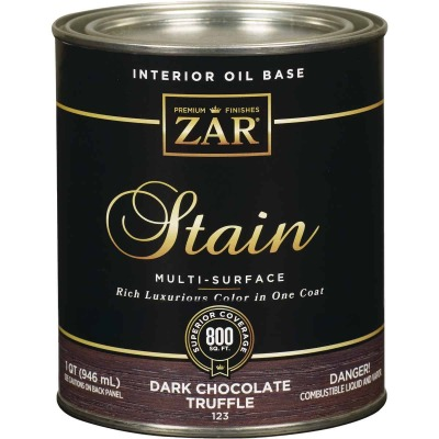 ZAR Oil-Based Wood Stain, Dark Chocolate Truffle, 1 Qt.
