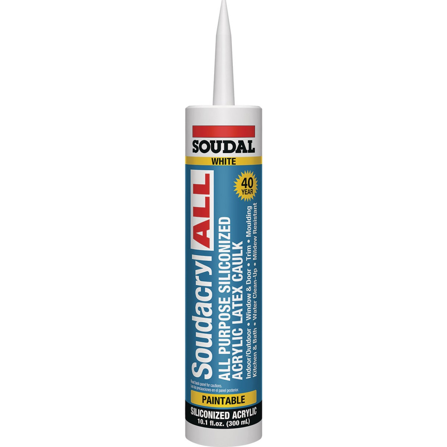 Soudacryl All 10.1 Oz. White Siliconized Acrylic Latex All-Purpose Caulk Image 1