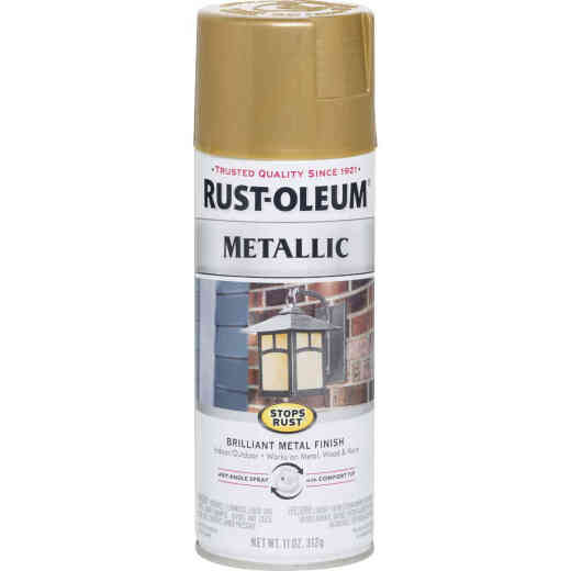Rust-Oleum Stops Rust 11 Oz. Metallic Satin Spray Paint, Gold Rush
