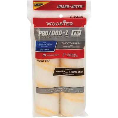Wooster Jumbo-Koter P/D FTP 6-1/2 In. x 1/2 In. Woven Paint Roller Cover (2 Pack)