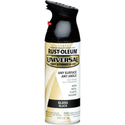 Rust-Oleum Universal 12 Oz. Gloss Black Paint