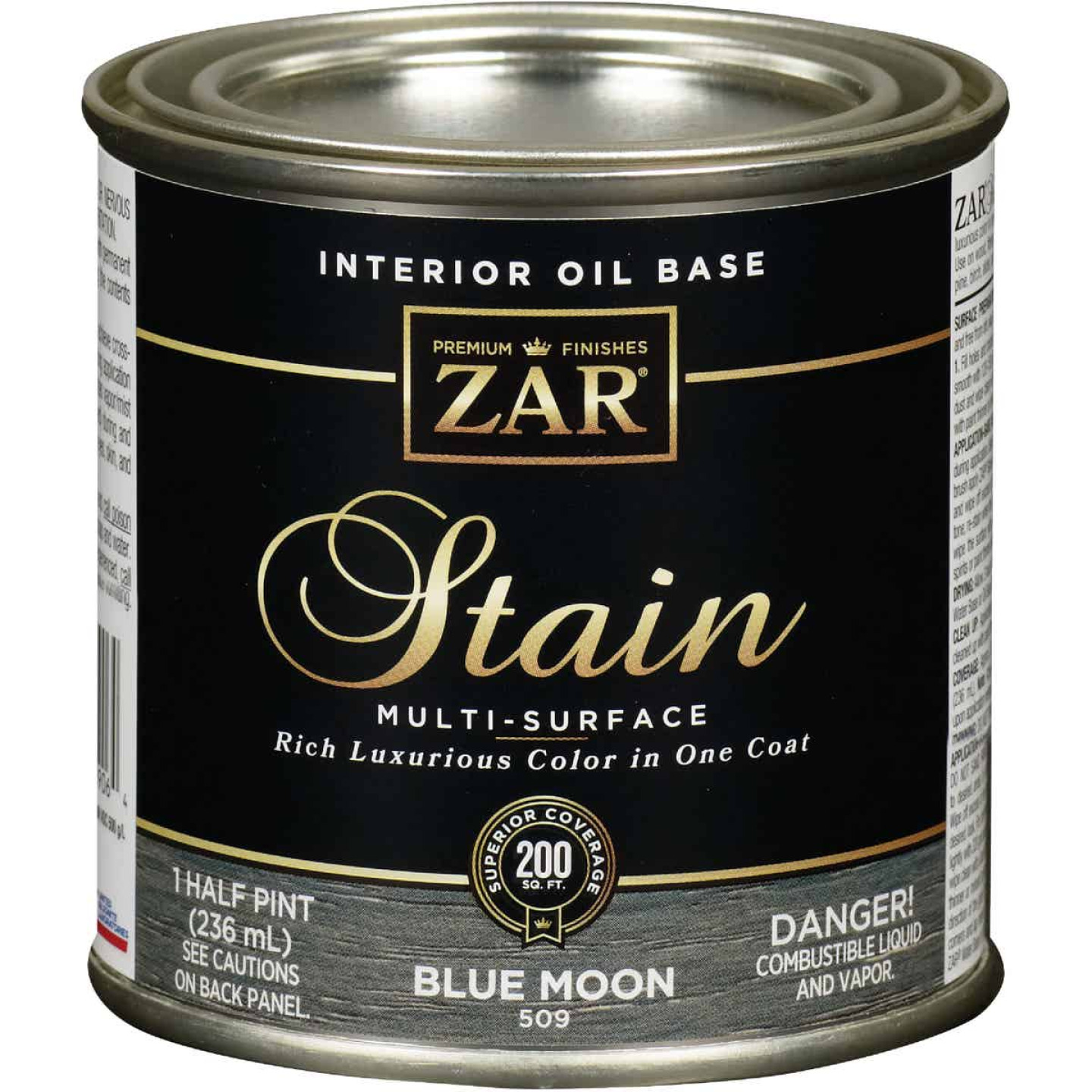 Zar 1/2 Pt. Blue Moon Oil-Based Multi-Surface Interior Stain Image 1