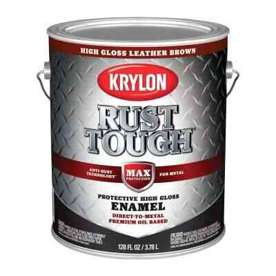 Valspar Anti-Rust Oil-Based Gloss Armor Rust Control Enamel, Brown, 1 Gal.