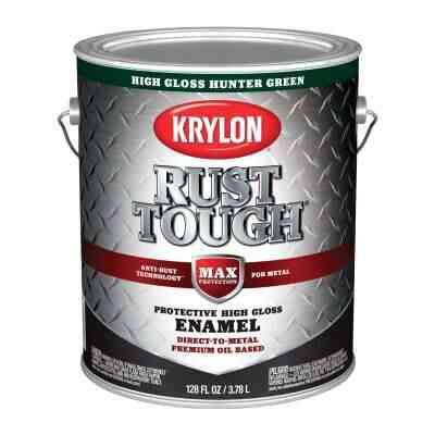 Valspar Anti-Rust Oil-Based Gloss Armor Rust Control Enamel, Hunter Green, 1 Gal.